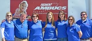 Statesboro, GA AMBUCS members pose in a line.