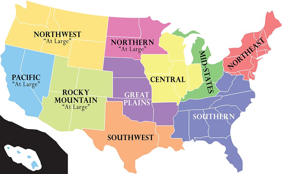 AMBUCS Region Map